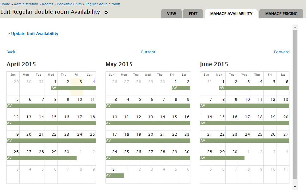 Hotel Calendar Design : Hotel website distribution tech contact support