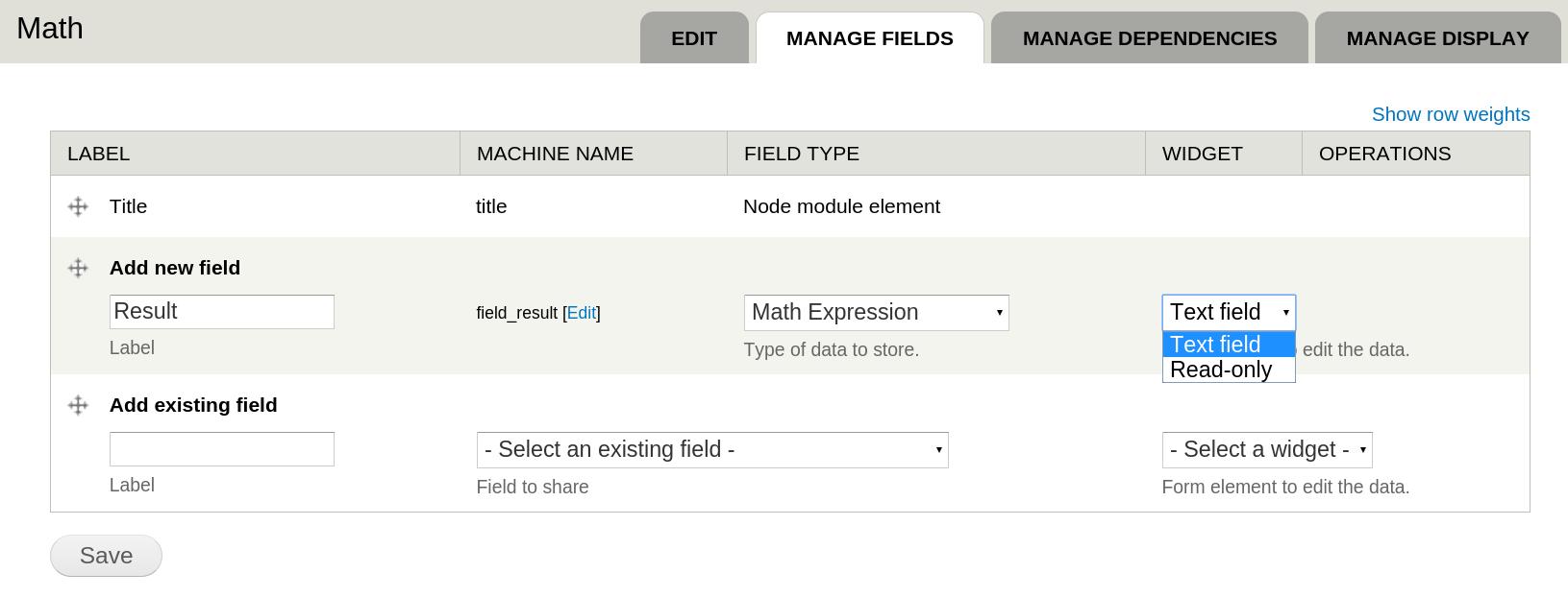 Math Field | Drupal.org