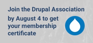 Join the Drupal Association by August 4 to get your membership certificate