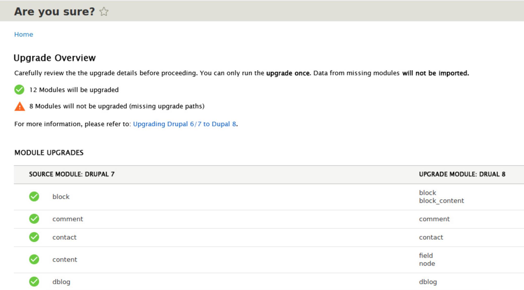 Proposed Migrate UI for Drupal 8.5