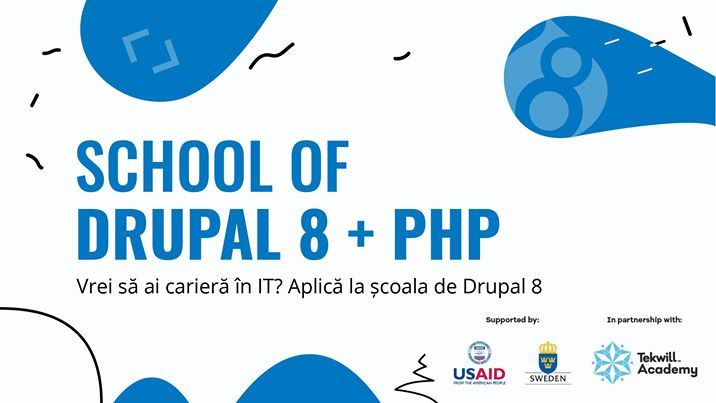 School of Drupal 8 + PHP promotional page
