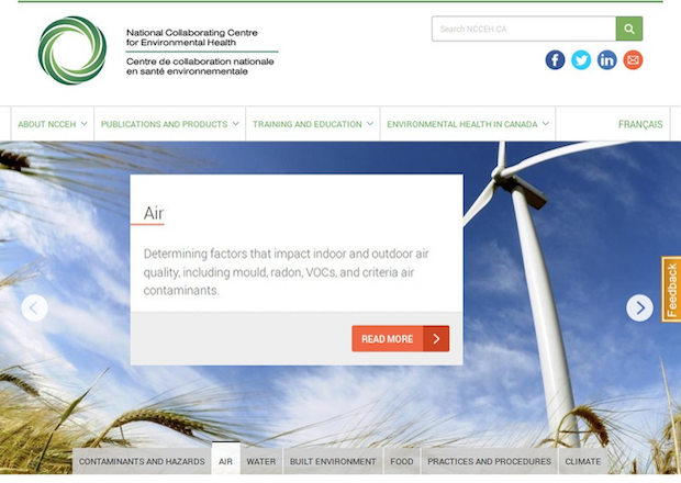 NCCEH - National Collaborating Centre for Environmental Healthy