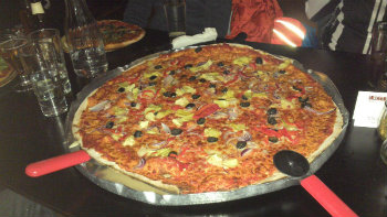 Ordered by J-P, one big pizza - Photo by J-P Stacey