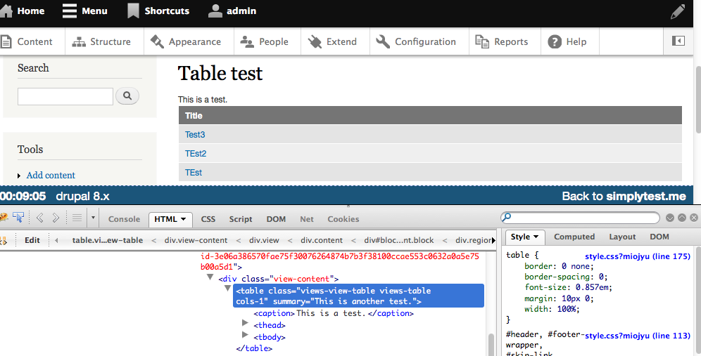 #67 · patch-with-tables.png ...  sc 1 st  Drupal & Add option to set caption \u0026 remove summary in the html table ...