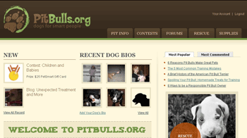 PitBulls.org Front Page