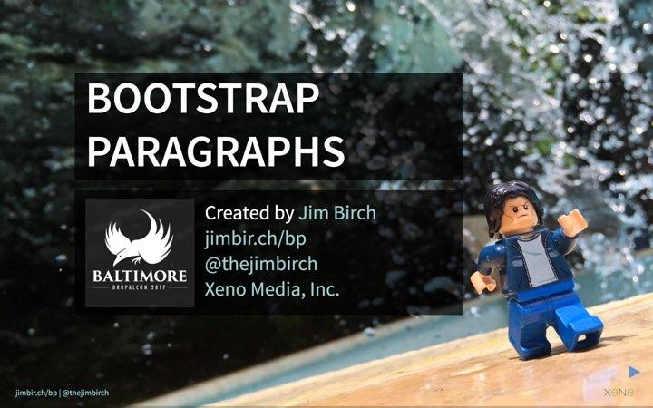 Bootstrap Paragraphs at DrupalCon Baltimore