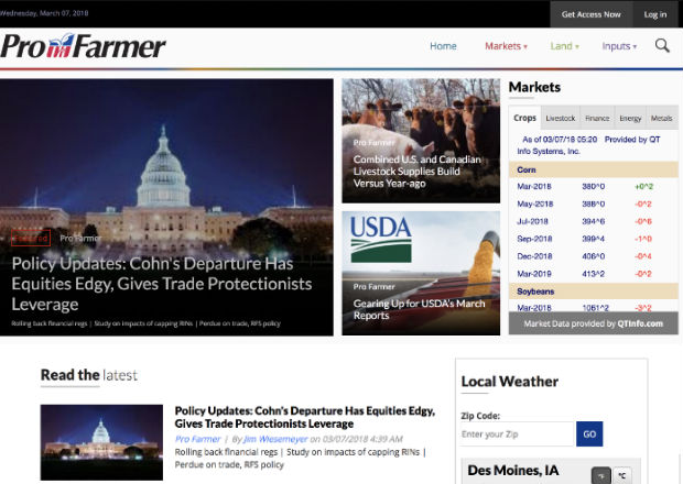Pro Farmer provides unbiased market news, analysis and advice to farmers and agribusiness leaders