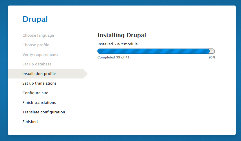Installer progress bar after
