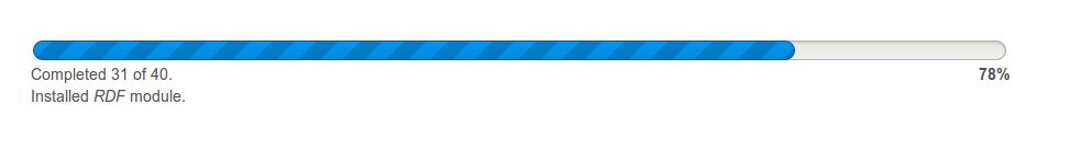 Progress Bar style update [#1989480] | Drupal org