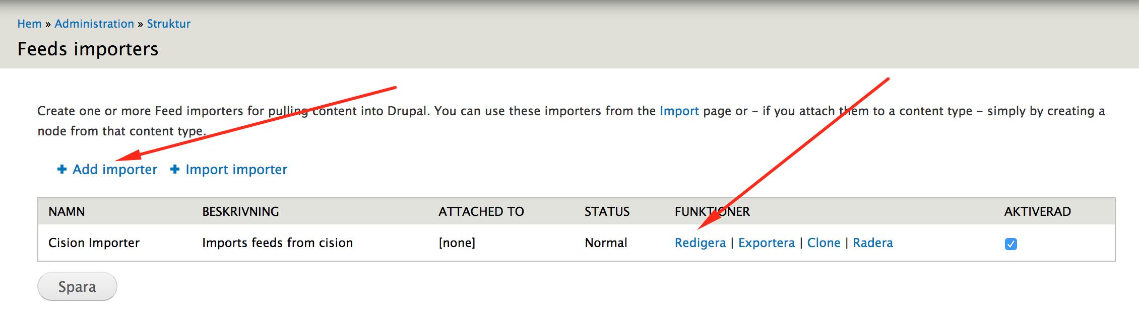 Create importer