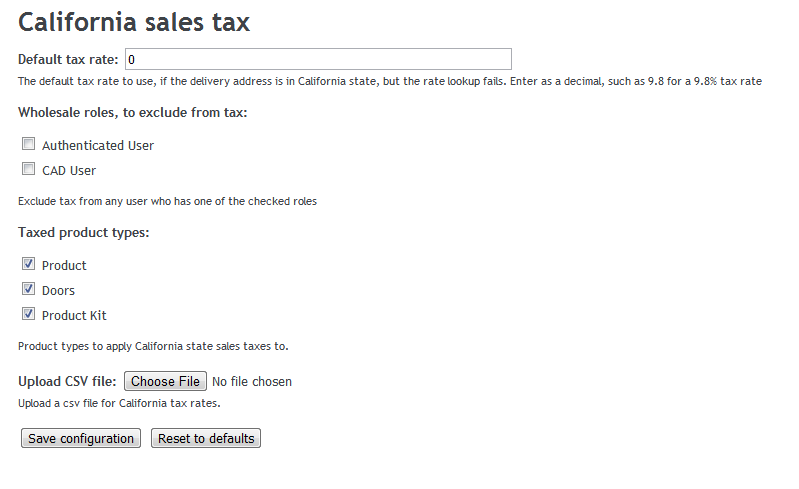 california sales tax calculation drupal org
