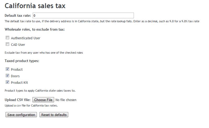 California Tax Calculator >> California Sales Tax Calculation Drupal Srq