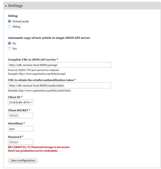JSON:API example | Drupal org