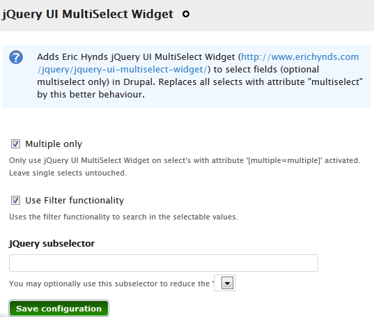 jQuery UI MultiSelect Widget | Drupal org