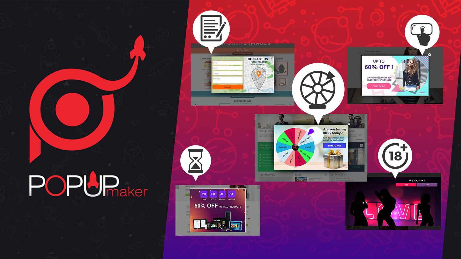 popup maker all popup types drupal org