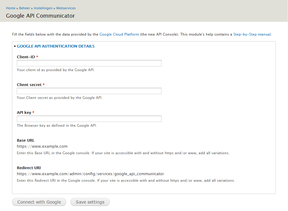 Google API Communicator | Drupal org