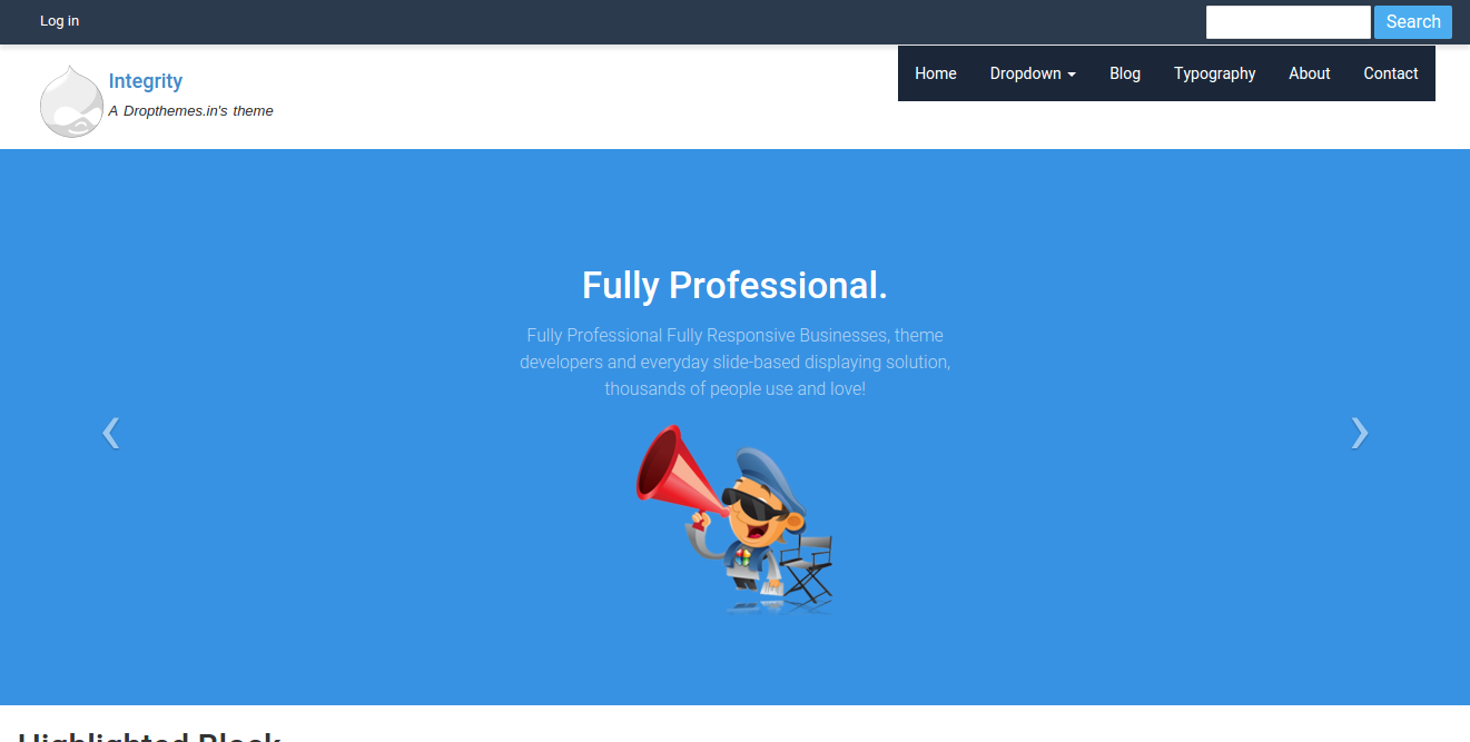 Drupal - Integrity Is A Drupal 8 Bootstrap Multipurpose Theme Developed For Your Business Corporate Portfolio Its Easy To Use And Fully Customize