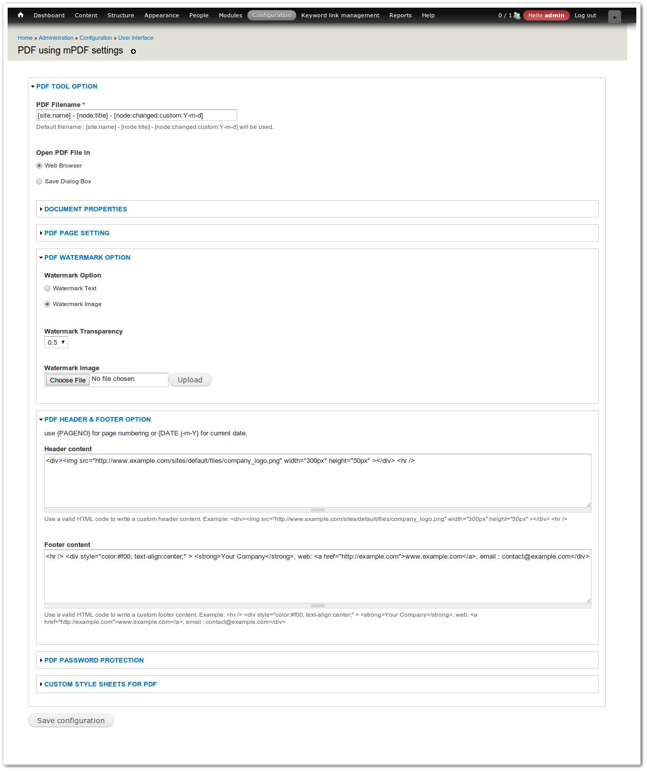 PDF using mPDF | Drupal org