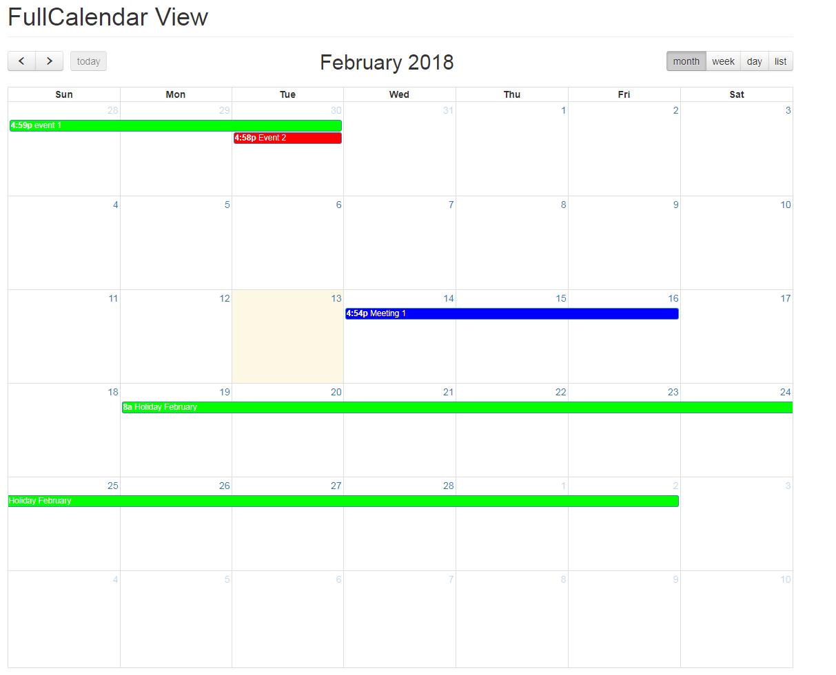 Fullcalendar View | Drupal org