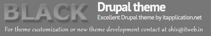 Drupal theme black design