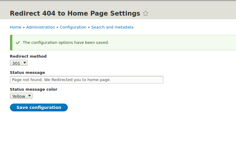 Redirect 404 to Home Page | Drupal.org