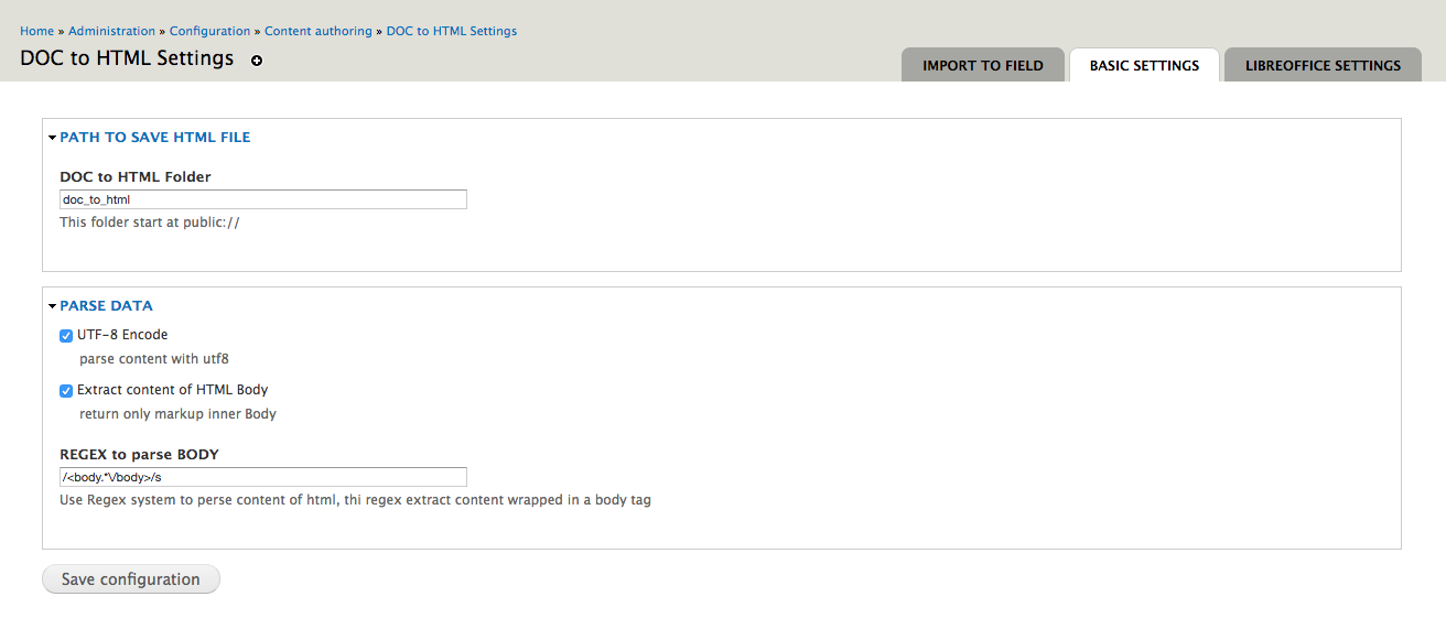 DOC to HTML | Drupal org