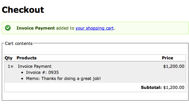 Ubercart Invoice Payment Form Drupalorg - Example of an invoice for payment