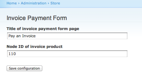 form of invoice