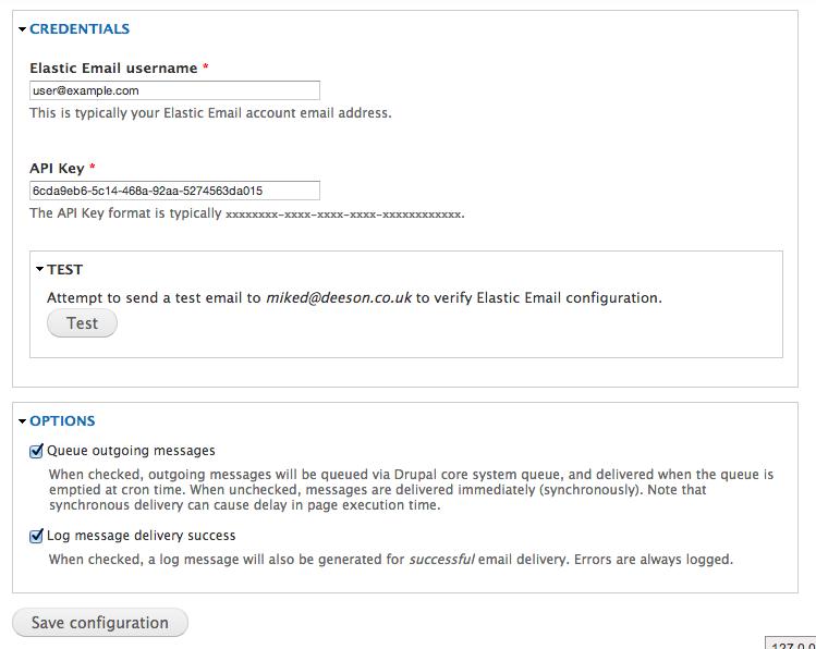 Elastic Email | Drupal org