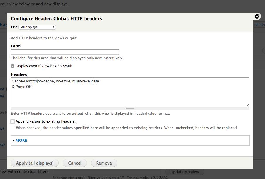 Views HTTP Headers   Drupal org