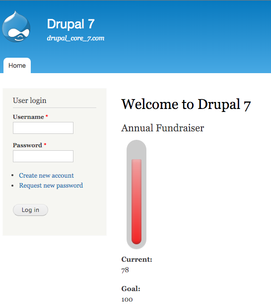 Donations Thermometer | Drupal.org