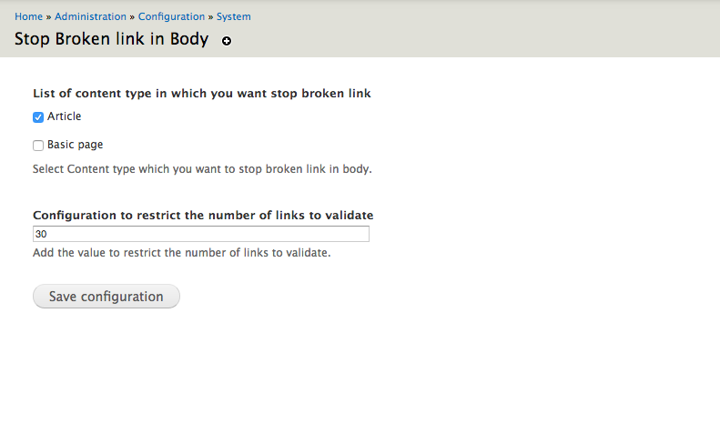 Stop Broken Link In Body | Drupal org