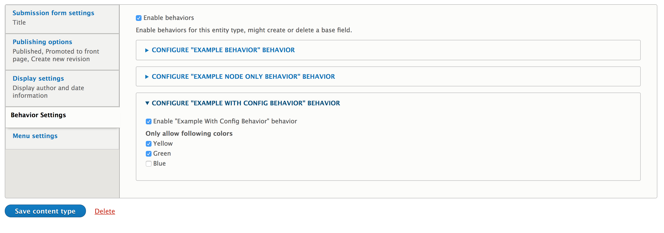 Entity Type Behaviors   Drupal org
