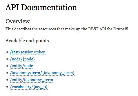 Self Documenting REST API   Drupal org