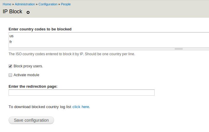 IP Block   Drupal org