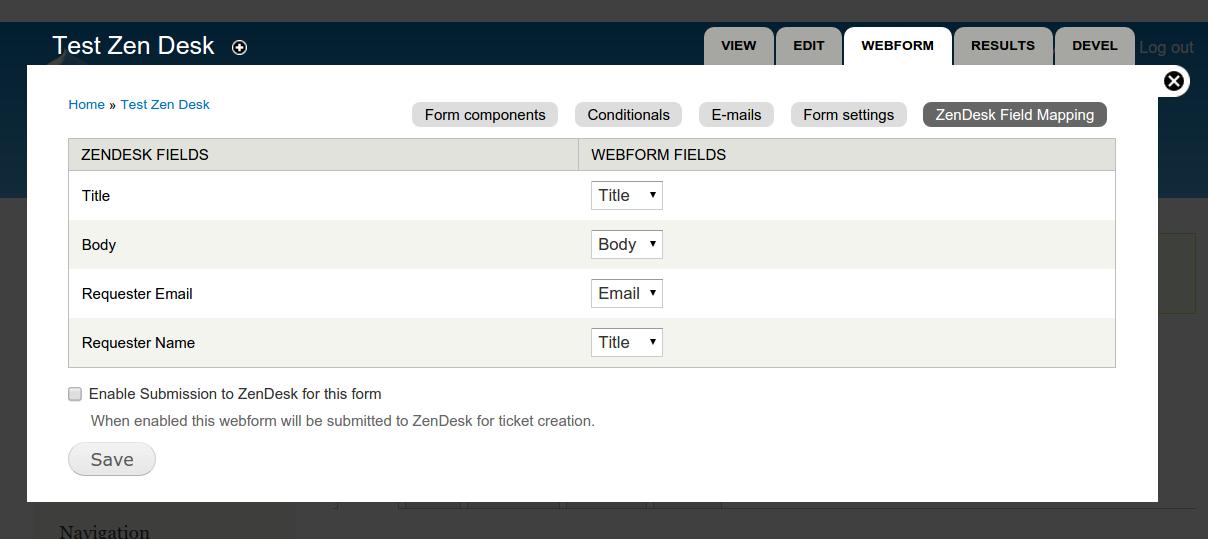 Webform ZenDesk Integration | Drupal.org