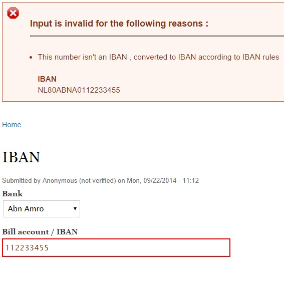 The Purpose Of Module Is To Validate An Accountnumber And If It Isn T A Iban Than Automatically Transforms
