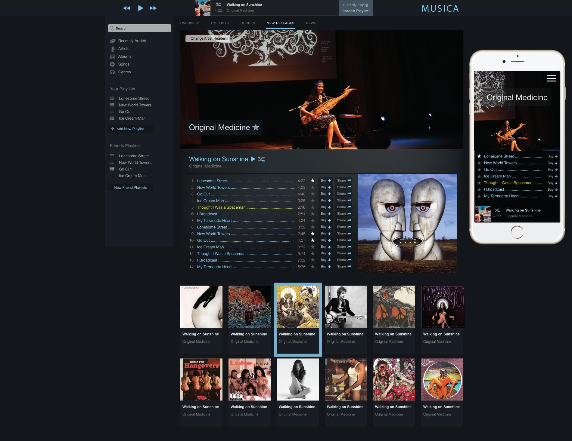 Musica - a modern responsive music player | Drupal org