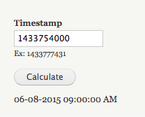Unix Time Conversion | Drupal org