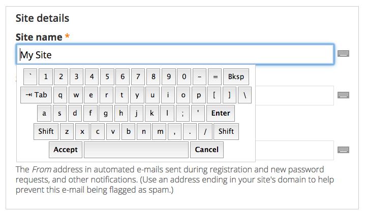 Virtual Keyboard | Drupal org
