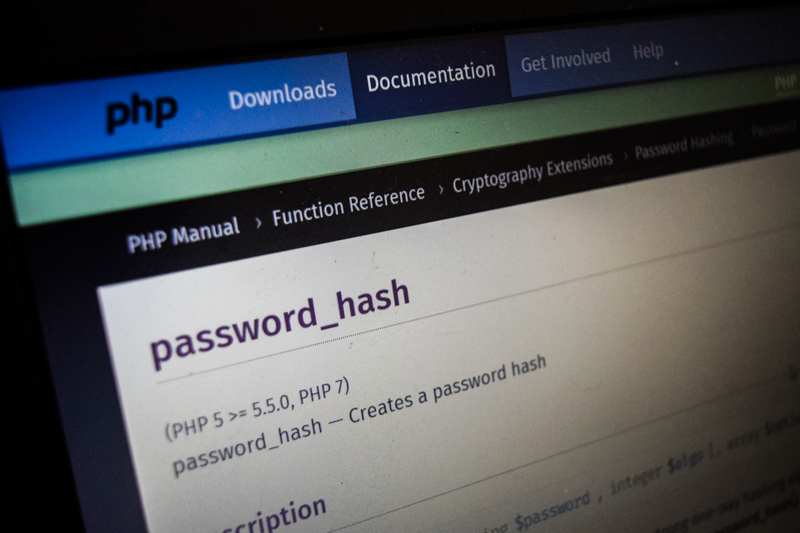 password_hash php