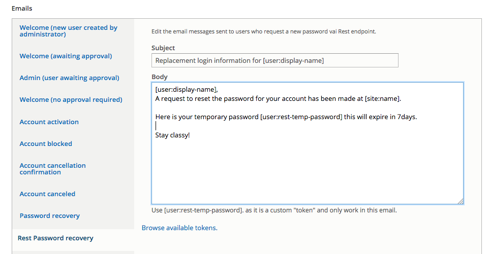 REST Password Request | Drupal org