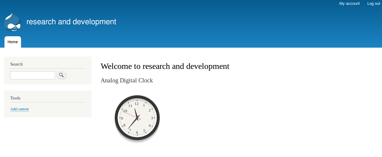 analog digital clock drupal org