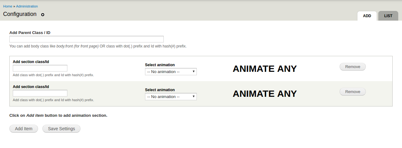 Animate Any | Drupal org