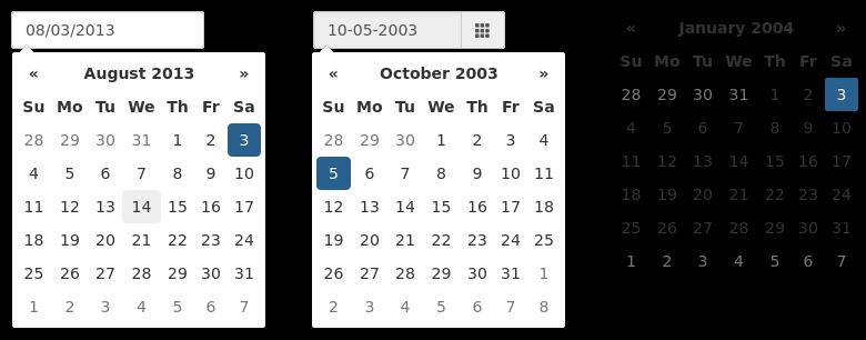 Bootstrap Datepicker | Drupal org