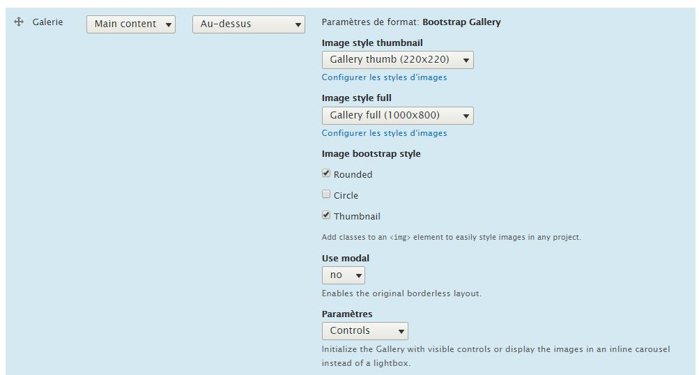 Bootstrap gallery image formatter | Drupal org
