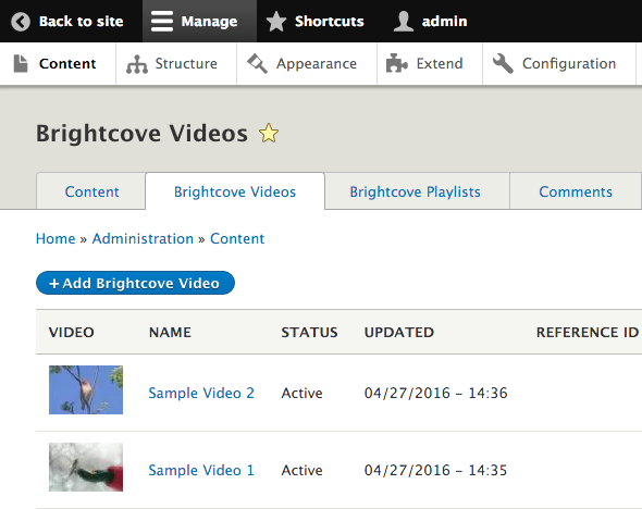 video brightcove