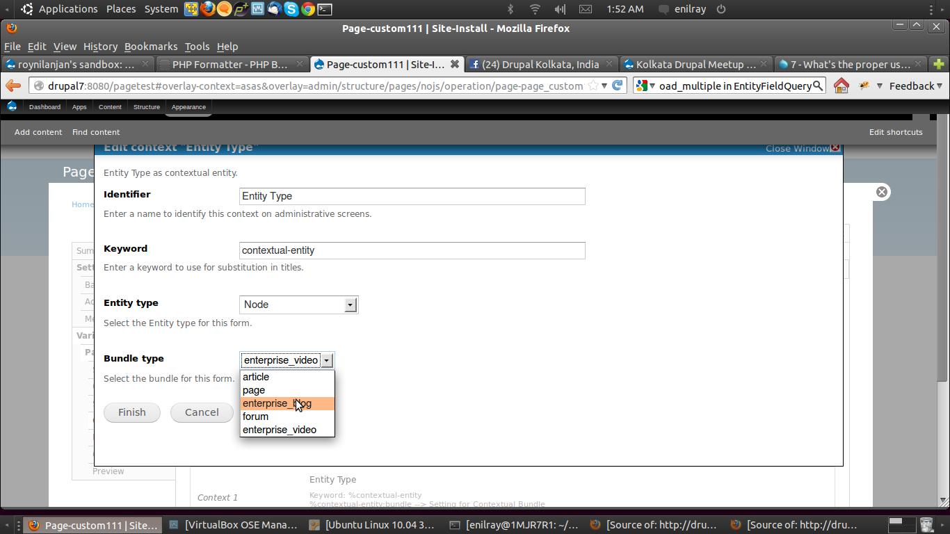 Contextual Entity list   Drupal org