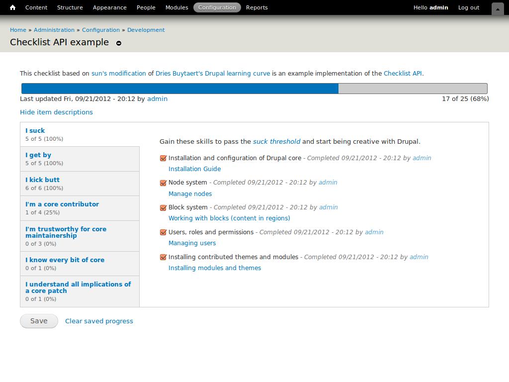 Checklist API | Drupal org