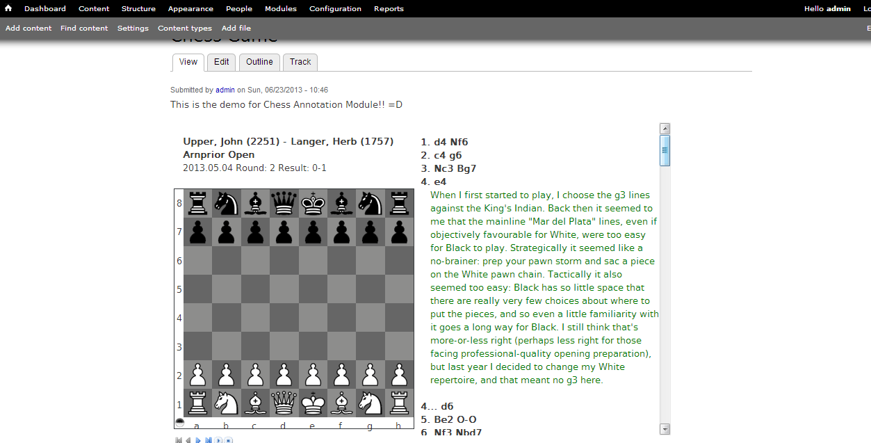 Chess Annotation | Drupal org
